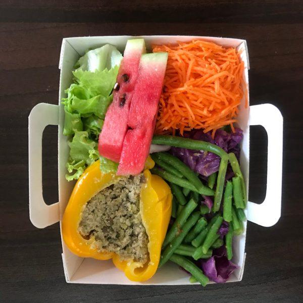 Haricots verts, choux farcis, fruits frais mercredi 18/09 menu de la semaine du mois de septembre mixcook